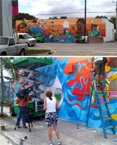 Glamurama acaba de receber imagens do painel de Nina Pandolfo, osgemeos e Nunca, na Art Basel Miami.