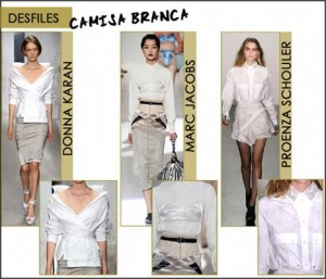 Caimisa branca é ítem crítico no guarda-roupa