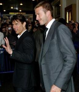David Beckham disse que sair para jantar com Tom Cruise é um pesadelo.