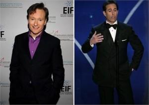 A NBC está pensando em substituir Conan O'Brien por Jerry Seinfeld.