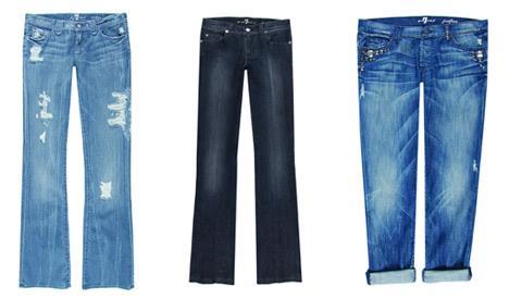 """O jeans da 7 For All Mankind foi eleito pela revista norte-americana """"Advertising Age"""" como um dos dez melhores produtos dos anos 2000"""