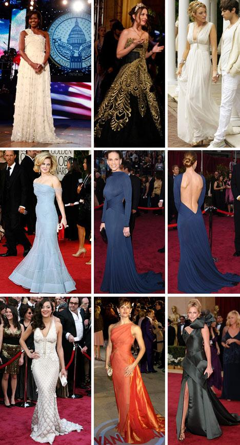 Os vestidos de Michelle Obama, Leighton Meester, Blake Lively, Drew Barrymore, Hilary Swank, Marion Cotillard, Jennifer Garner e Charlize Theron: entre os melhores da década