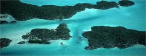 Começou a ferveção em Turks e Caicos, no Caribe.