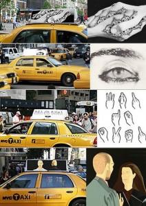 Táxis de Nova York ganham ares de galeria de arte.