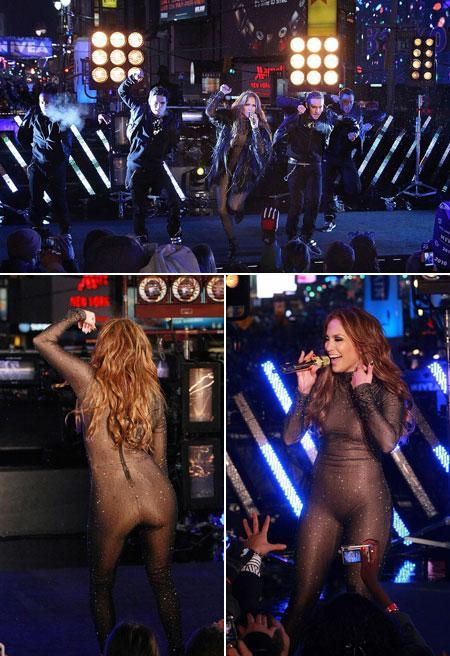 Jennifer Lopez: apresentação na Times Square