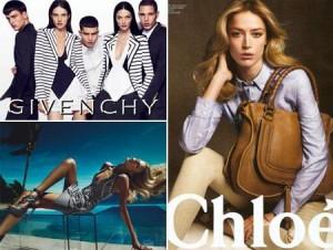 Começam a pipocar as fotos das campanhas verão das maiores maisons da moda.