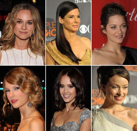 "Diane Kruger, Sandra Bullock, Marion Cotillard, Taylor Swift, Jessica Alba e Olivia Wilde no ""People's Choice Awards"": make up natural"