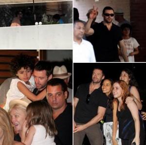 Hugh Jackman visita clube esportivo carioca e encerra primeira noite no Rio de Janeiro no restaurante japonês Sushi Leblon.