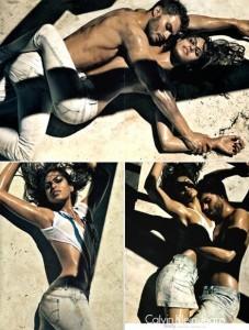 Calvin Klein aposta mais uma vez em Eva Mendes e Jamie Dornan para a campanha de sua linha de jeanswear.