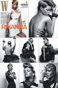 """Rihanna é capa e recheio da edição de fevereiro da revista """"W""""."""
