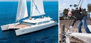 Quer alugar o catamarã de Richard Branson? Pois ele acaba de reformar seu barco todo feito em fibra de carbono para oferecê-lo ao mercado.
