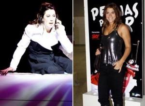 """Glamurama confere musical """"Pernas pro Ar"""", de Claudia Raia, e conversa com Priscila Fantin, que foi ver a amiga"""
