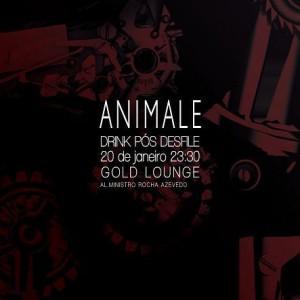 Animale faz festa oficial no restaurante Gold Lounge na noite desta quarta-feira.