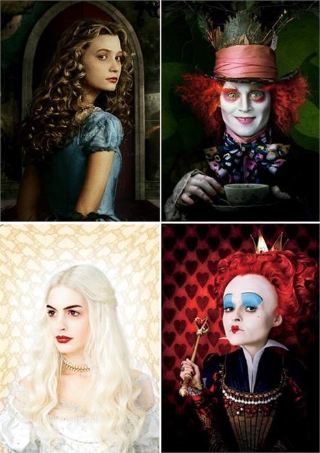 "Mia Wasikowska, Johnny Depp, Anne Hathaway e Helena Bonham Carter: ""Alice"" pelos olhos de Tim Burton"