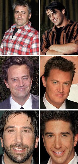 """Matt LeBlanc, Matthew Perry e David Schwimmer: antes e depois de """"Friends"""""""