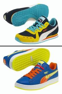 A linha de tênis Puma Archive traz modelos com cores cítricas e flúo, hit da temporada.