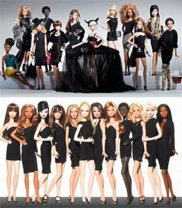Barbie é homenageada pelo time de estilistas do prêmio CFDA 2010 e ganha uma coleção com 20 novos modelos do tradicional vestido preto.