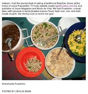 Jantar oferecido por Joyce Pascowitch ganha vai parar no blog da V Magazine.