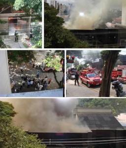 Uma sessão da loja de decoração de Ana Maria Vieira Santos, o Empório Vieira Santos, está pegando fogo neste momento.