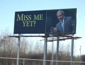 Outdoor o interior dos Estados Unidos brinca com George W. Bush