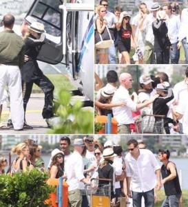 Madonna embarcou, agora há pouco, em um helicóptero que a aguardava no heliponto da Lagoa Rodrigo de Freitas, no Rio.