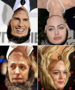 Site deixa celebridades de cabeça para baixo, em montagens no photoshop.
