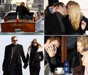 Lara Stone e o noivo, David Walliams, curtem final de semana romântico em Veneza.
