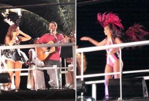 O clima familiar invadiu o trio elétrico de Daniela Mercury.