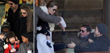 Angelina Jolie, Brad Pitt e os filhos em Veneza: novo endereço temporário