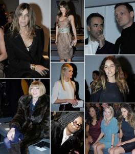Primeira fila do desfile da Calvin Klein collection em Nova York, foi uma das mais animadas. Glamurama mostra quais foram os convidados de Francisco Costa.