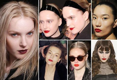 Glamurama identifica quais foram as principais tendências de beleza das temporadas de moda de Nova York e Londres.
