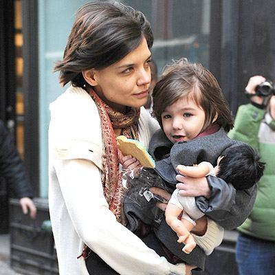 Katie Holmes com Suri Cruise: a família vai aumentar...
