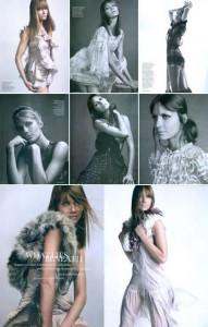 """Ana Claudia Michels é estrela de editorial-tendência na edição de março da """"Elle"""" britânica."""
