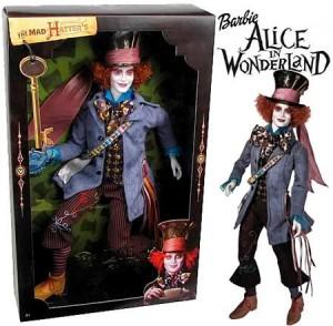 """Chapeleiro Maluco, do filme """" Alice no País das Maravilhas"""", vira boneco."""