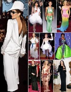 Veja a lista das dez mais mal vestidas de todos os Oscars.