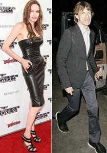 Angelina Jolie e Mick Jagger teriam se relacionado mais de uma vez, diz livro.