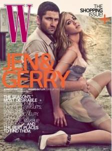 Após boatos sobre possível affair, Gerard Butler e Jennifer Aniston posam para revista.