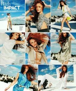 Cintia Dicker é a estrela da edição de março da Marie Claire britânica.
