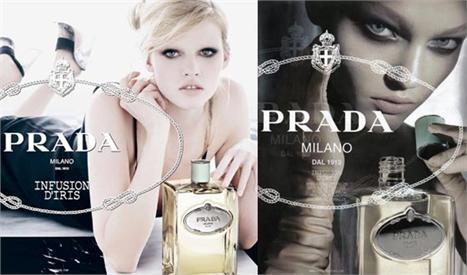 Prada substitui modelo da campanha do tradicional perfume Infusion d'Iris.