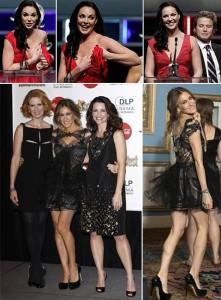 Os vestidos foram o grande destaque no ShoWest, evento organizado pela comunidade de  exibição e distribuição de filmes dos Estados Unidos, que aconteceu nessa quinta-feira, em Las Vegas.