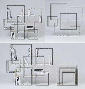 Designer alemão cria estante funcional, que se adapta perfeitamente a espaços grandes ou pequenos.