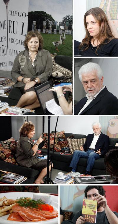 """Joyce Pascowitch, Camila Yahn, Flávio Gikovate, comidinhas do Allez, Allez e Rodrigo Levino com o livro """"Os Homens que Encaravam Cabras"""": programa imperdível"""