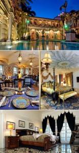 Mansão que pertenceu a Gianni Versace vira hotel em Miami.