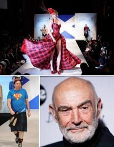 Sean Connery recebe astros escoceses em evento beneficente.