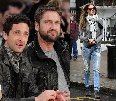 Adrien Brody, Gerard Butler e Elle Macpherson: viciados em jeanswear