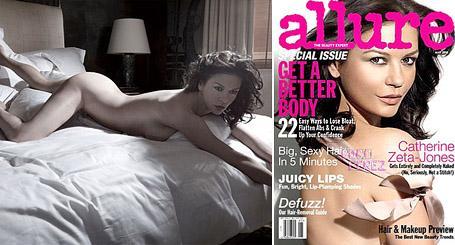 """Catherine Zeta-Jones no recheio e na capa da """"Allure"""" de maio: mais linda do que nunca"""