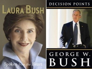 """Divulgada a capa do livro de memórias do ex-presidente George W. Bush, """"Decision Points""""."""