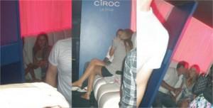 Roger Flores é visto com a modelo Rafaela Gewehr na festa de encerramento da 6º edição do Minas Trend Preview.