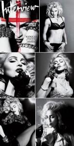 "Madonna estrela capa e recheio da revista norte-americana ""Interview""."