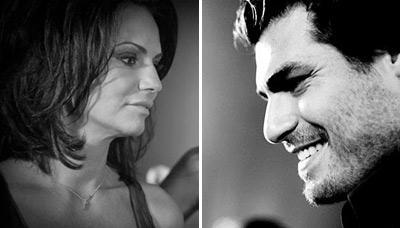Luiza Brunet e Thiago Lacerda: no mesmo evento em São Paulo